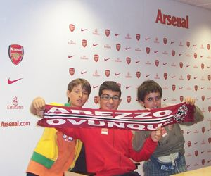 Davide, Nicola e Niccolò all'Emirates Stadium di Londra