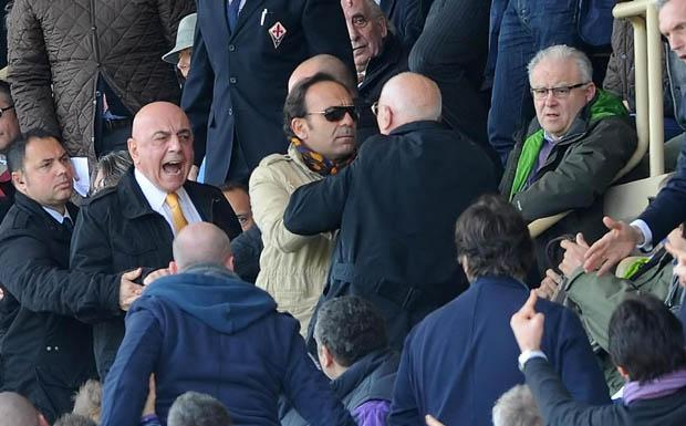 Galliani contestato in tribuna a Firenze