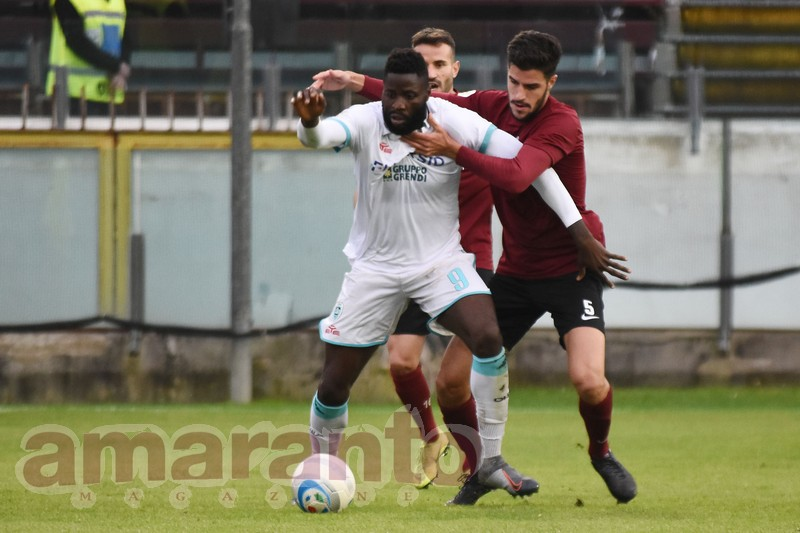 Roberto Ogunseye, due gol in Giana-Olbia